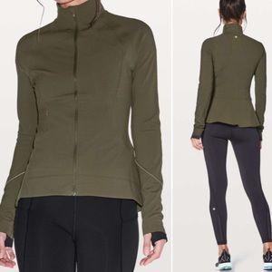 NWOT Lululemon Dark Olive Green Peplum Jacket 2